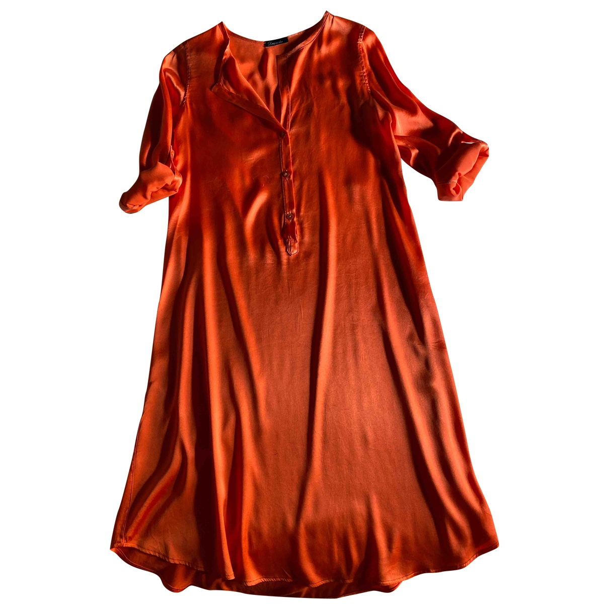 Vestido midi de Seda Drumohr