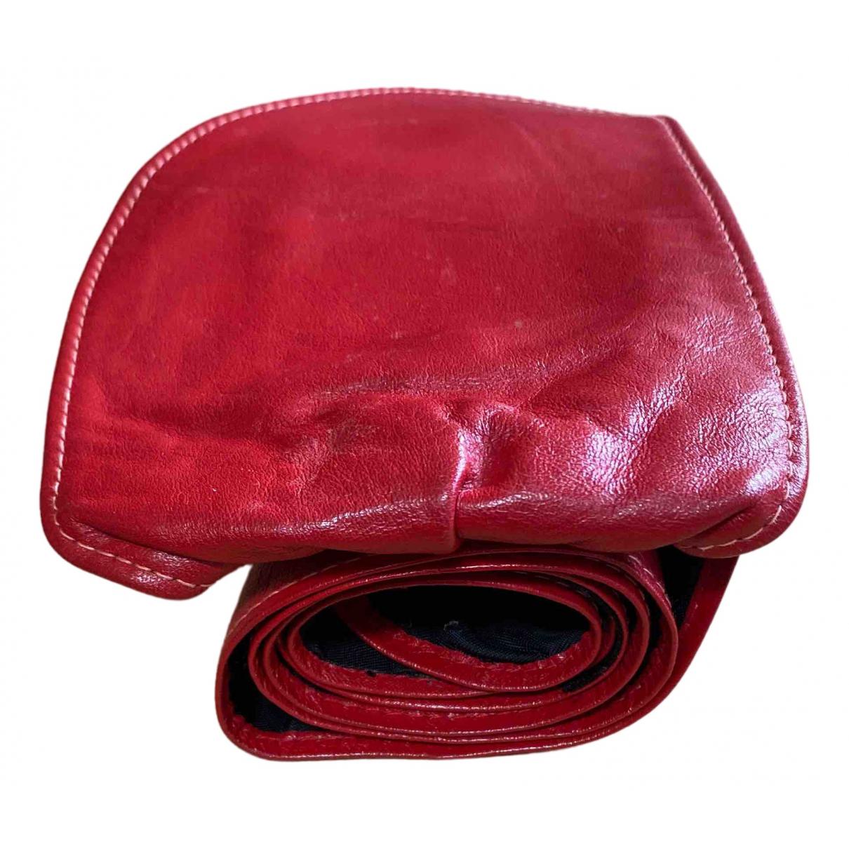 Reclaimed Vintage \N Guertel in  Rot Leder