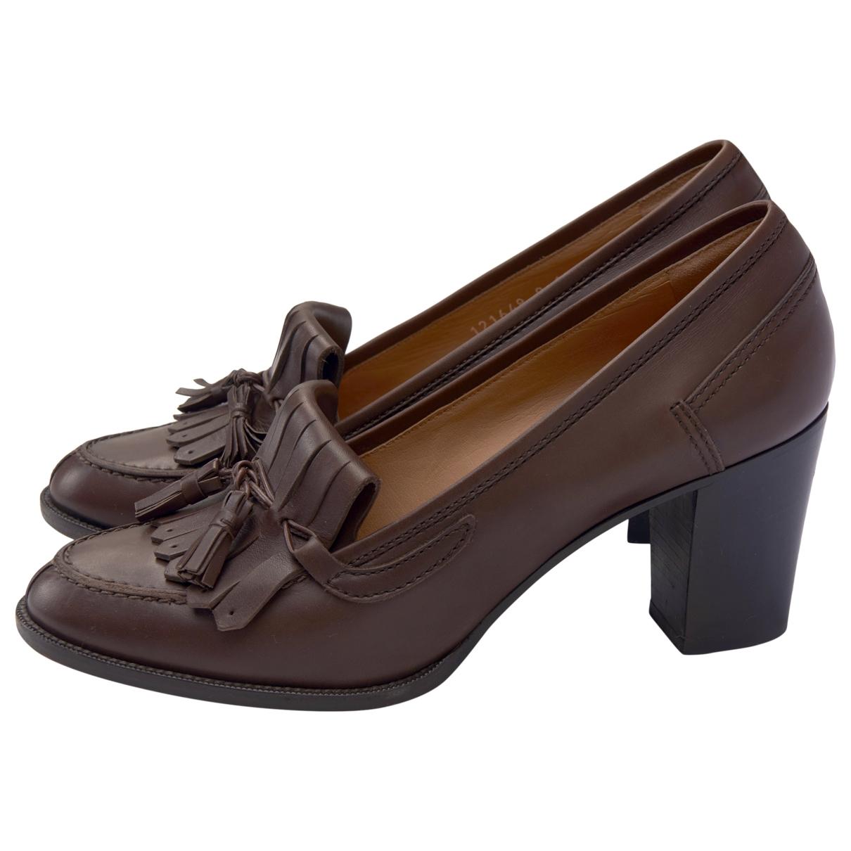 Ralph Lauren Collection - Escarpins   pour femme en cuir - marron