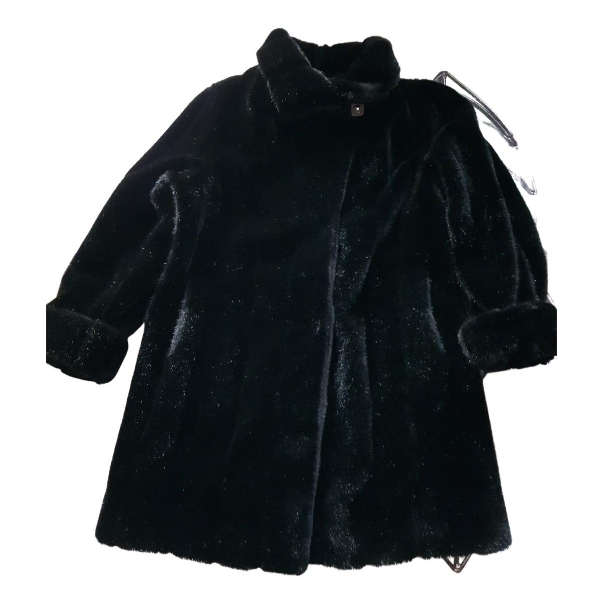 Non Signé / Unsigned N Black Faux fur coat for Women 42 FR