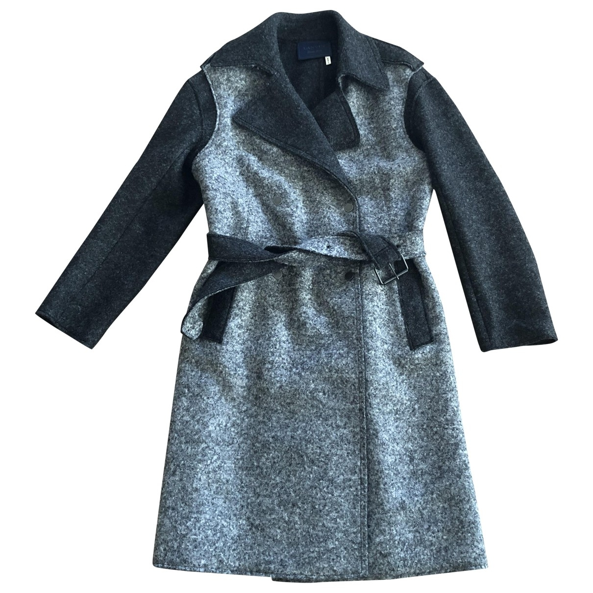 Lanvin \N Maentel in  Grau Wolle