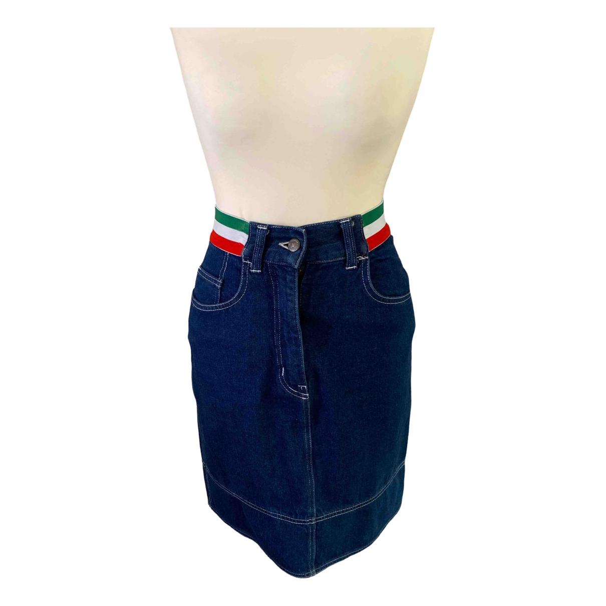 Moschino - Jupe   pour femme en coton - bleu