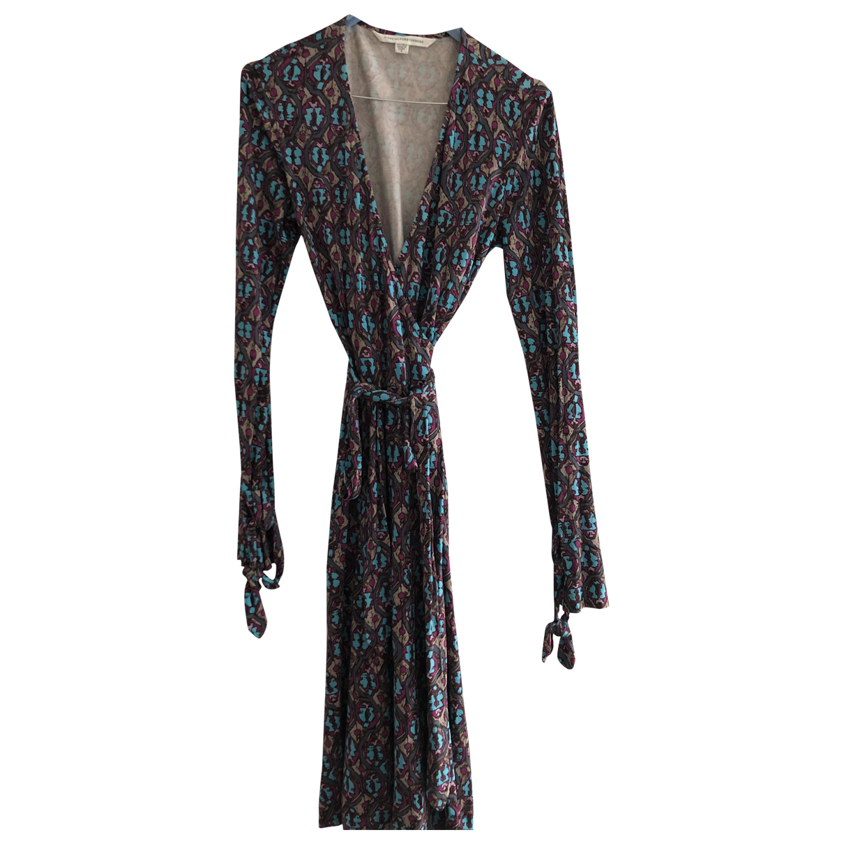 Diane Von Furstenberg \N Purple Silk dress for Women 6 US