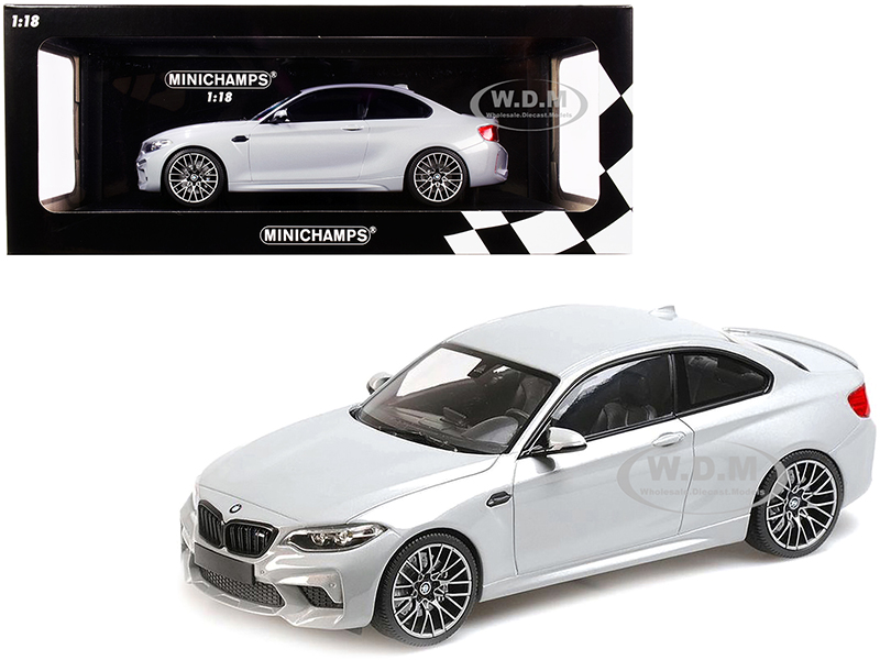 2019 BMW M2 Competition Silver Limited Edition to 504 pieces Worldwide 1/18 Diecast Model Car by Minichamps