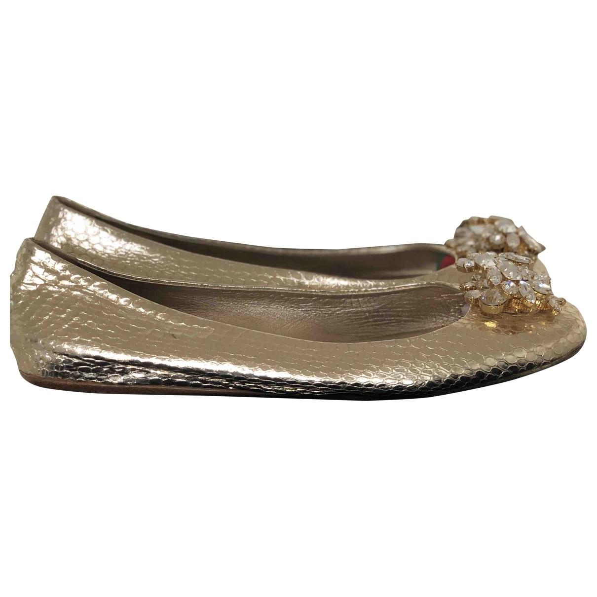 Le Silla \N Ballerinas in  Gold Leder