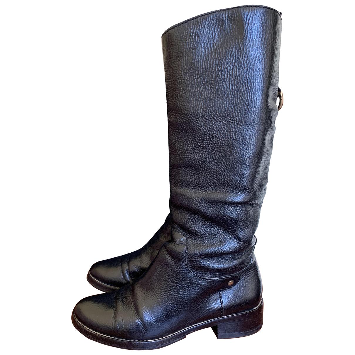 D&g - Bottes   pour femme en cuir - noir