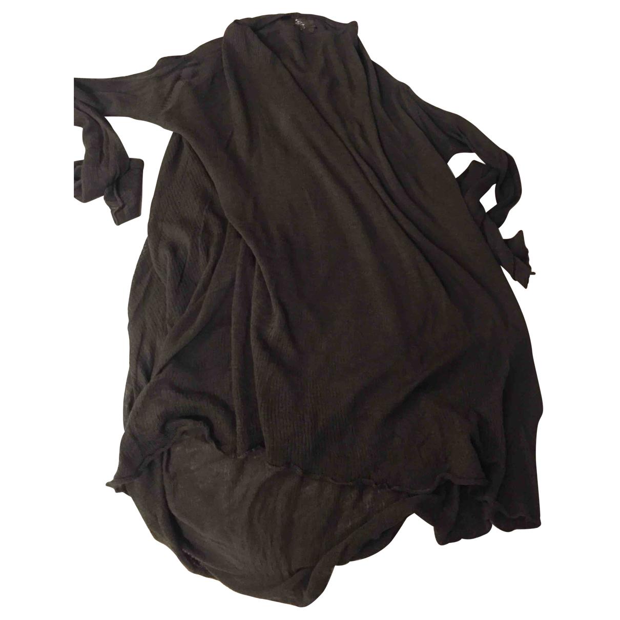 Rick Owens - Pull   pour femme en coton - marron