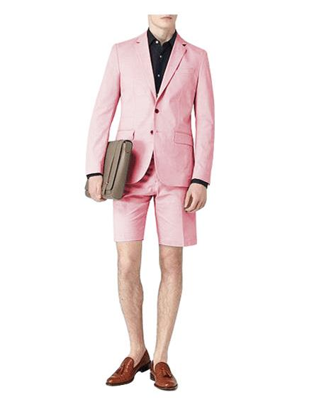 Two Button Single Breasted Suit Pink