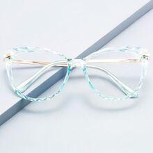 Katzenaugen-Brille mit transparentem Rahmen