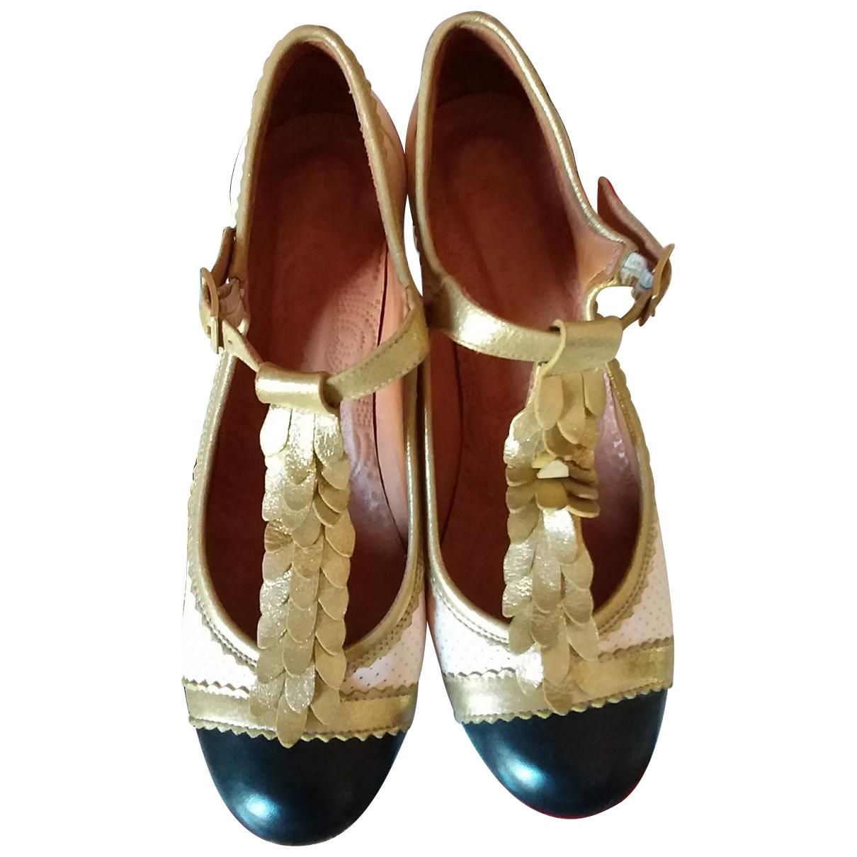 Chie Mihara \N Beige Leather Heels for Women 38 EU