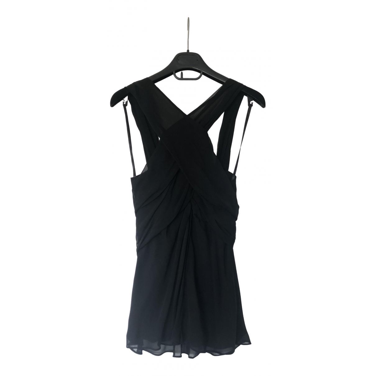 Diane Von Furstenberg \N Black Silk  top for Women 8 US