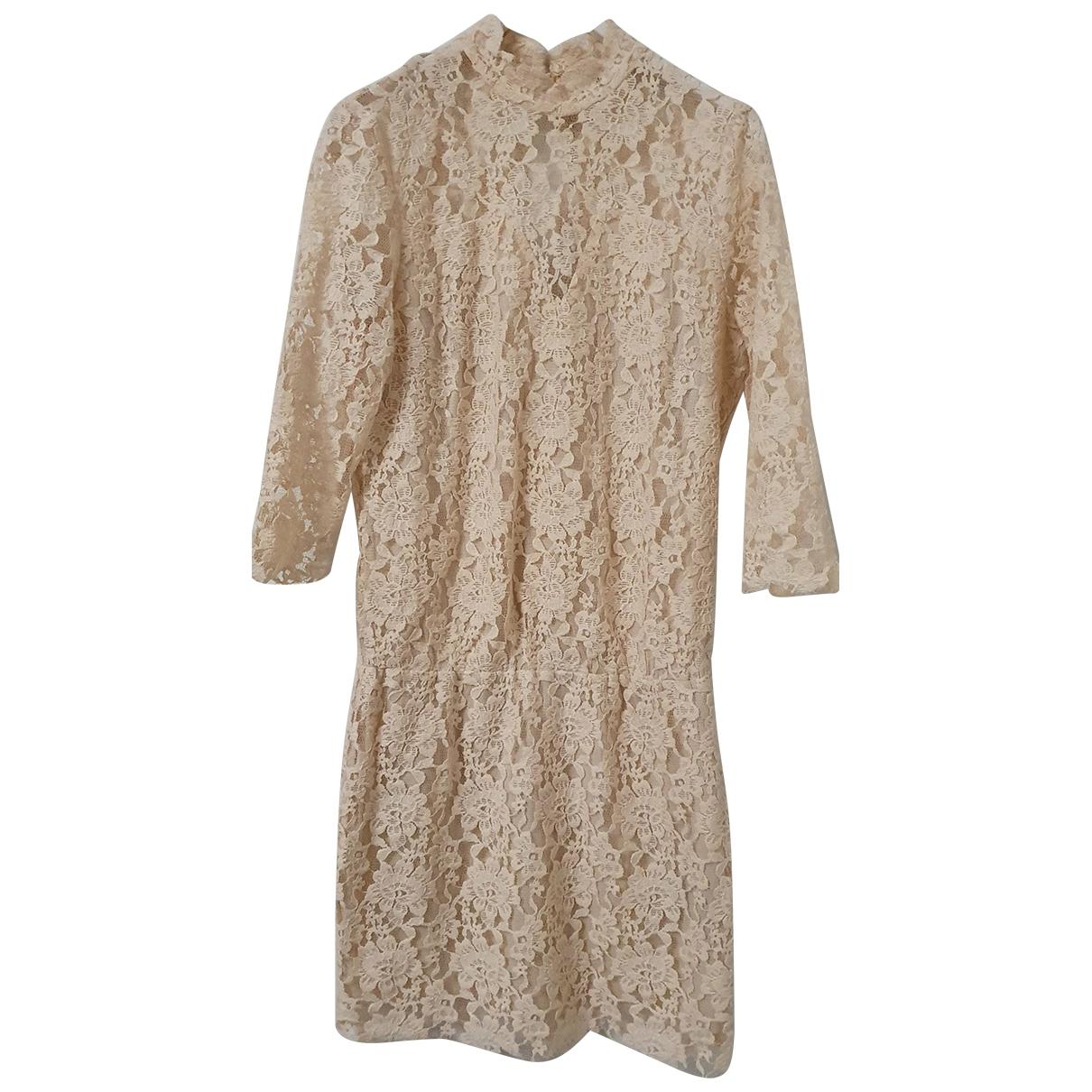 Gestuz \N Kleid in  Ecru Baumwolle