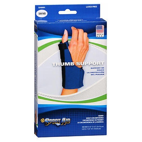 Sportaid Thumb Neoprene Blue Small Medium 1 each by Sport Aid