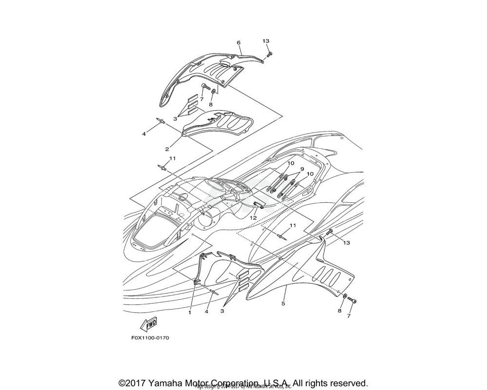 Yamaha OEM F0X-62188-00-00 BOX, INDUCTION 2