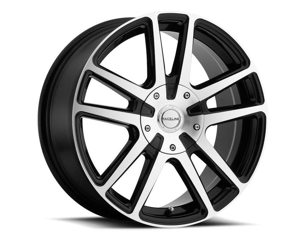 Raceline 145M Encore Gloss Black w/ Machined Face Wheel 17X7.5 4X100|4X108 40mm