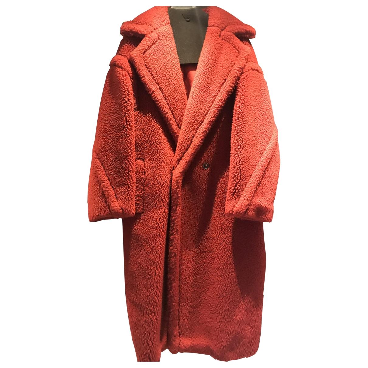 Max Mara - Manteau Teddy Bear Icon pour femme en laine - rouge