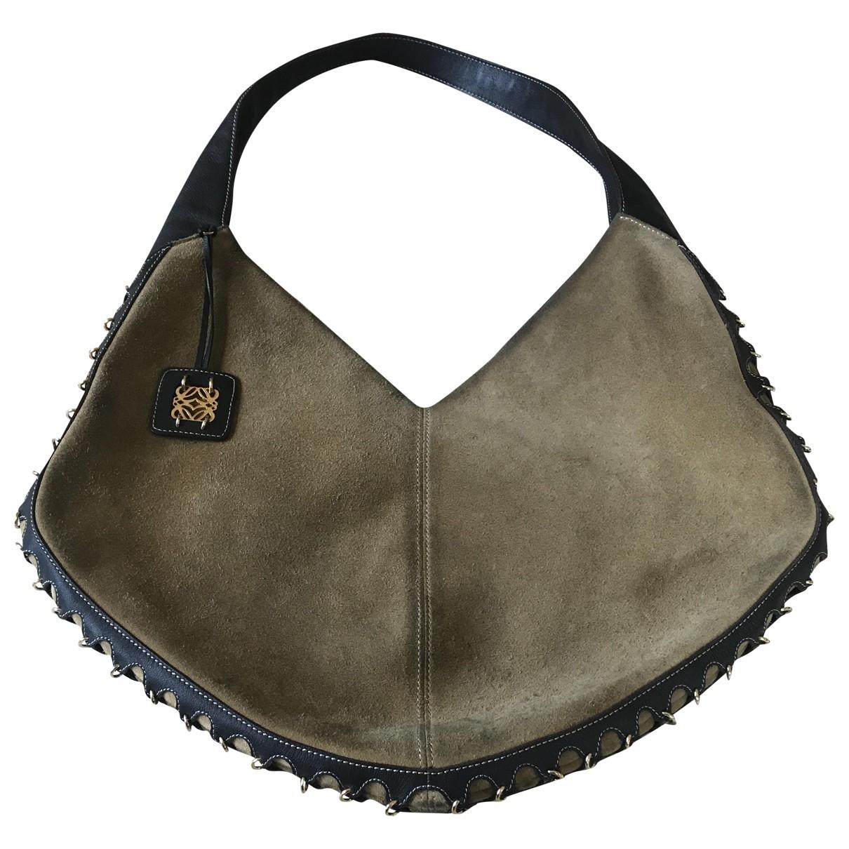 Loewe \N Handtasche in  Kamel Veloursleder