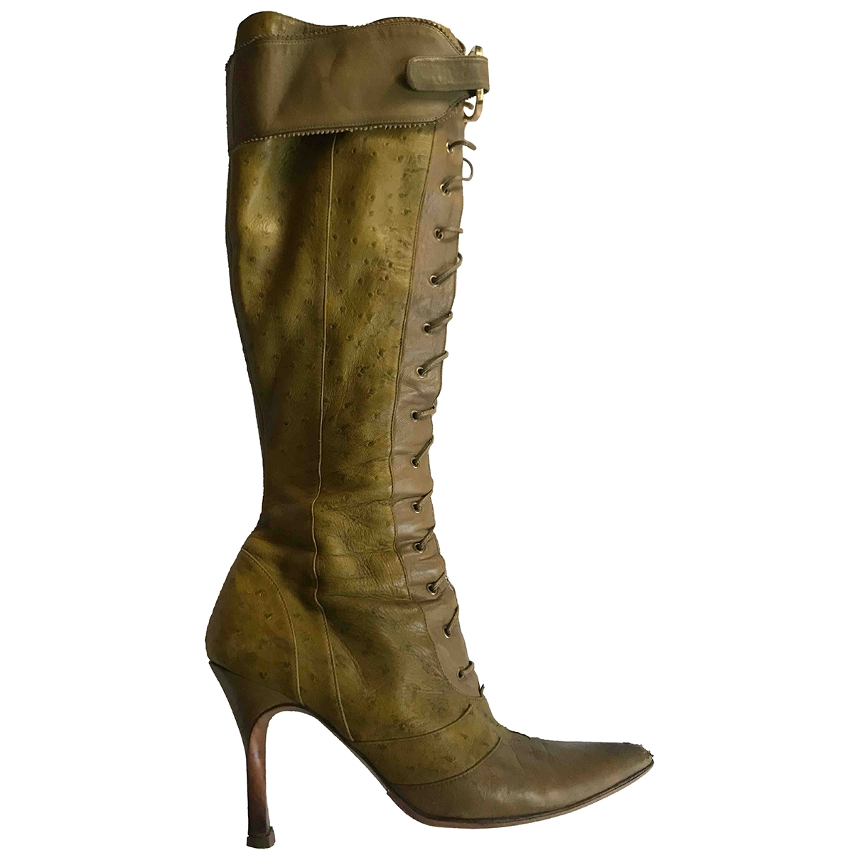 Dior \N Green Leather Boots for Women 40 EU