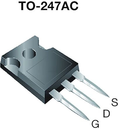 Vishay N-Channel MOSFET, 61 A, 600 V, 3-Pin TO-247AC  SIHG039N60EF-GE3 (25)