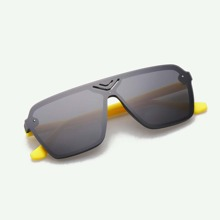 Boys Hollow Out Square Frame Sunglasses