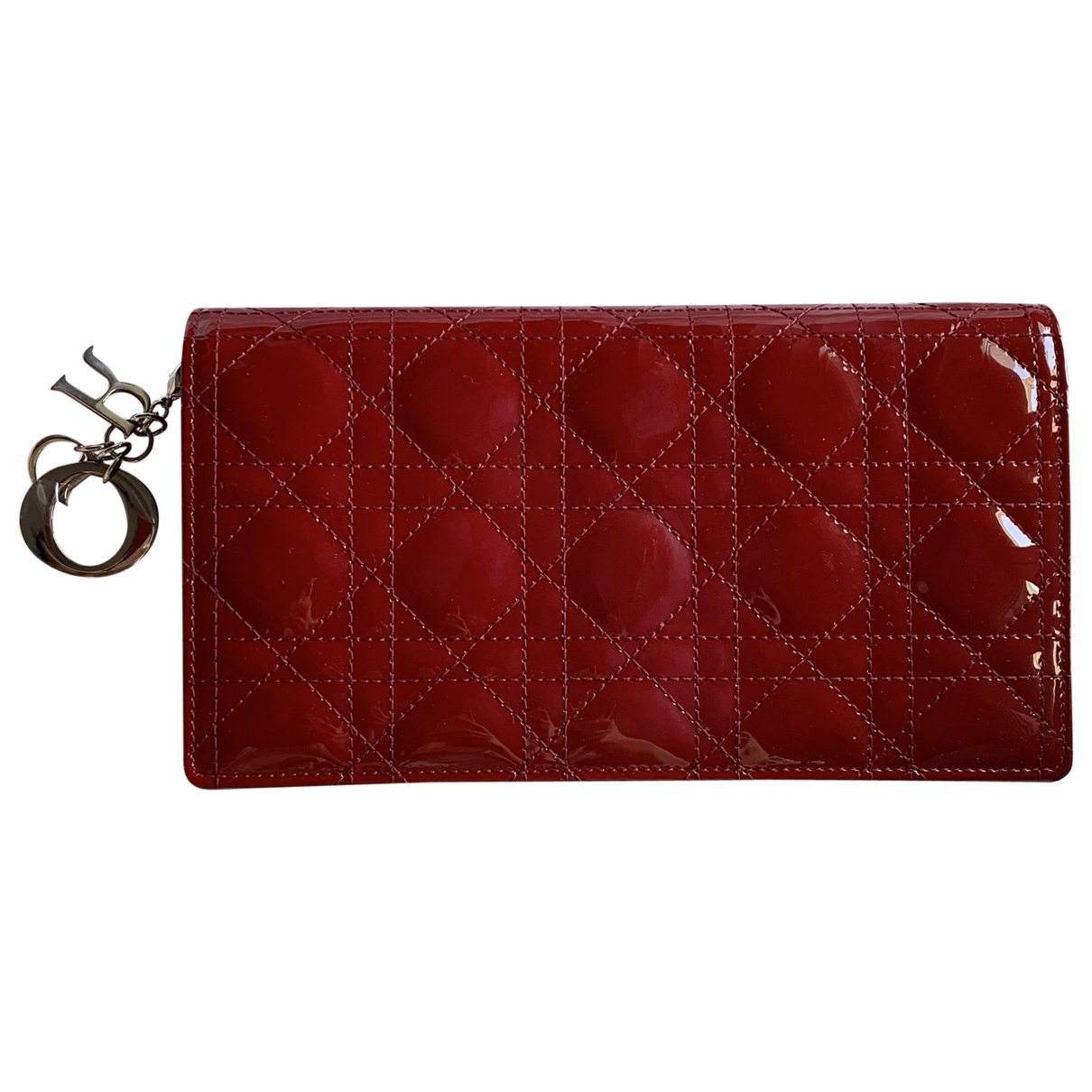 Dior Lady Dior Red Patent leather Clutch bag for Women \N