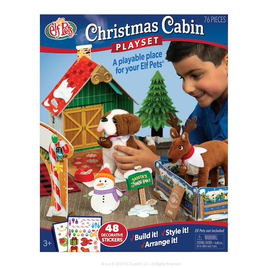 Elf Pets® Christmas Cabin Playset By Elf On The Shelf | Michaels®