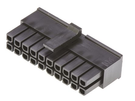 Molex , Micro-Fit 3.0 Female Connector Housing, 3mm Pitch, 20 Way, 2 Row (5)