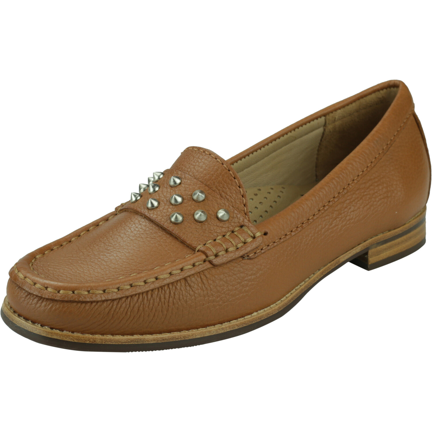 Driver Club Usa Women's Louisville Grainy Tan Ankle-High Leather Flat Shoe - 6.5M