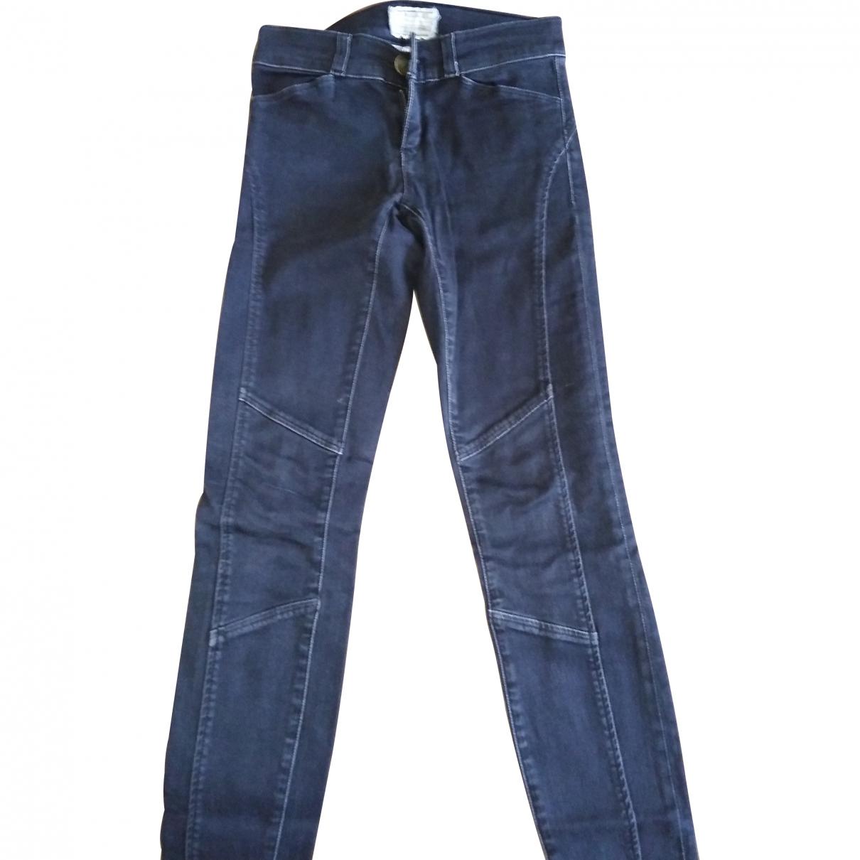 Current Elliott \N Anthracite Cotton - elasthane Jeans for Women 22 US