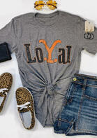 Yellowstone LoYal O-Neck T-Shirt Tee - Gray