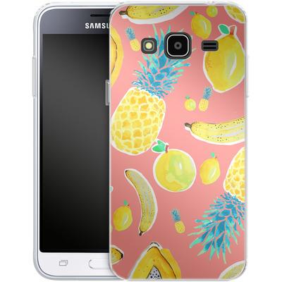 Samsung Galaxy J3 (2016) Silikon Handyhuelle - Fruit Love von Mukta Lata Barua