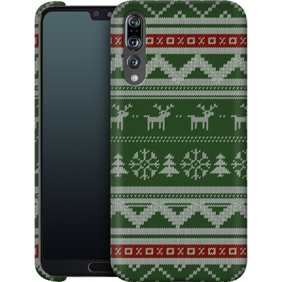 Huawei P20 Pro Smartphone Huelle - Norwegian Jumper Green von caseable Designs