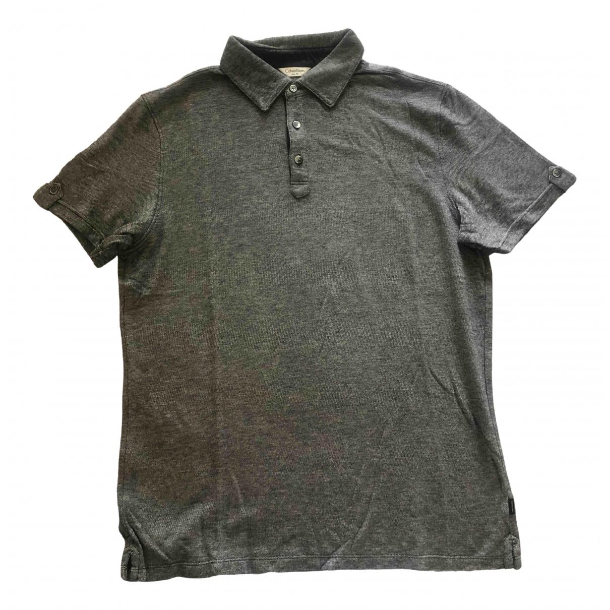 Calvin Klein \N Poloshirts in  Anthrazit Baumwolle