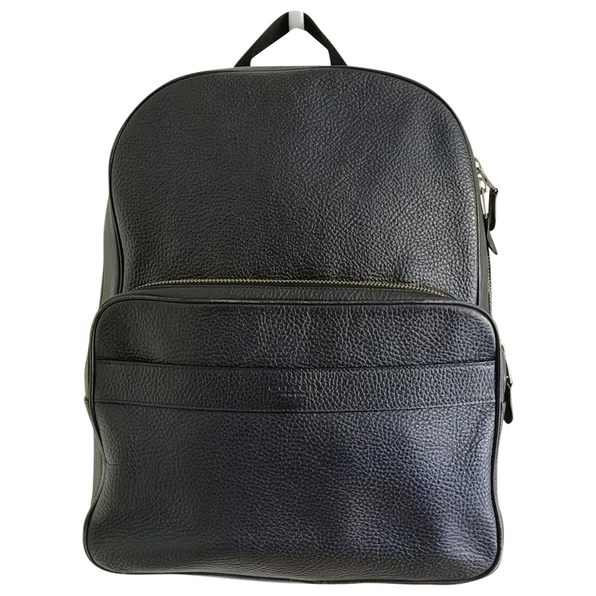 Coach \N Navy Leather bag for Men \N