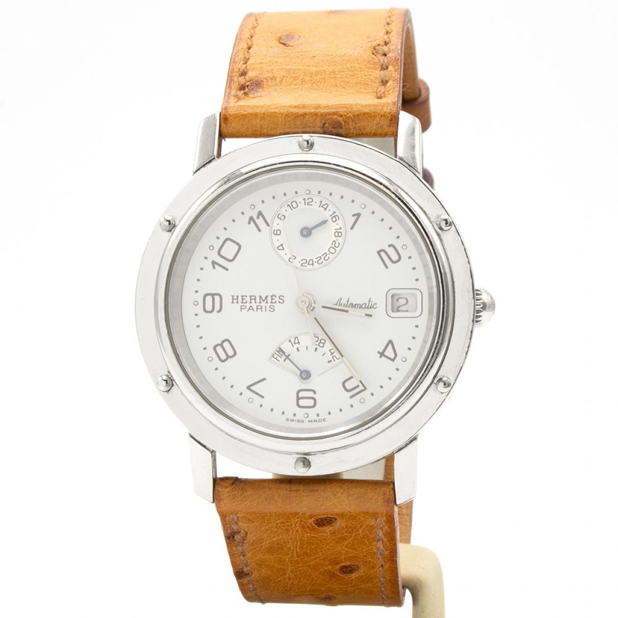 Hermès Clipper Silver Steel watch for Men \N