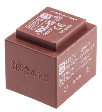 Myrra 9V ac 2 Output Through Hole PCB Transformer, 2.5VA