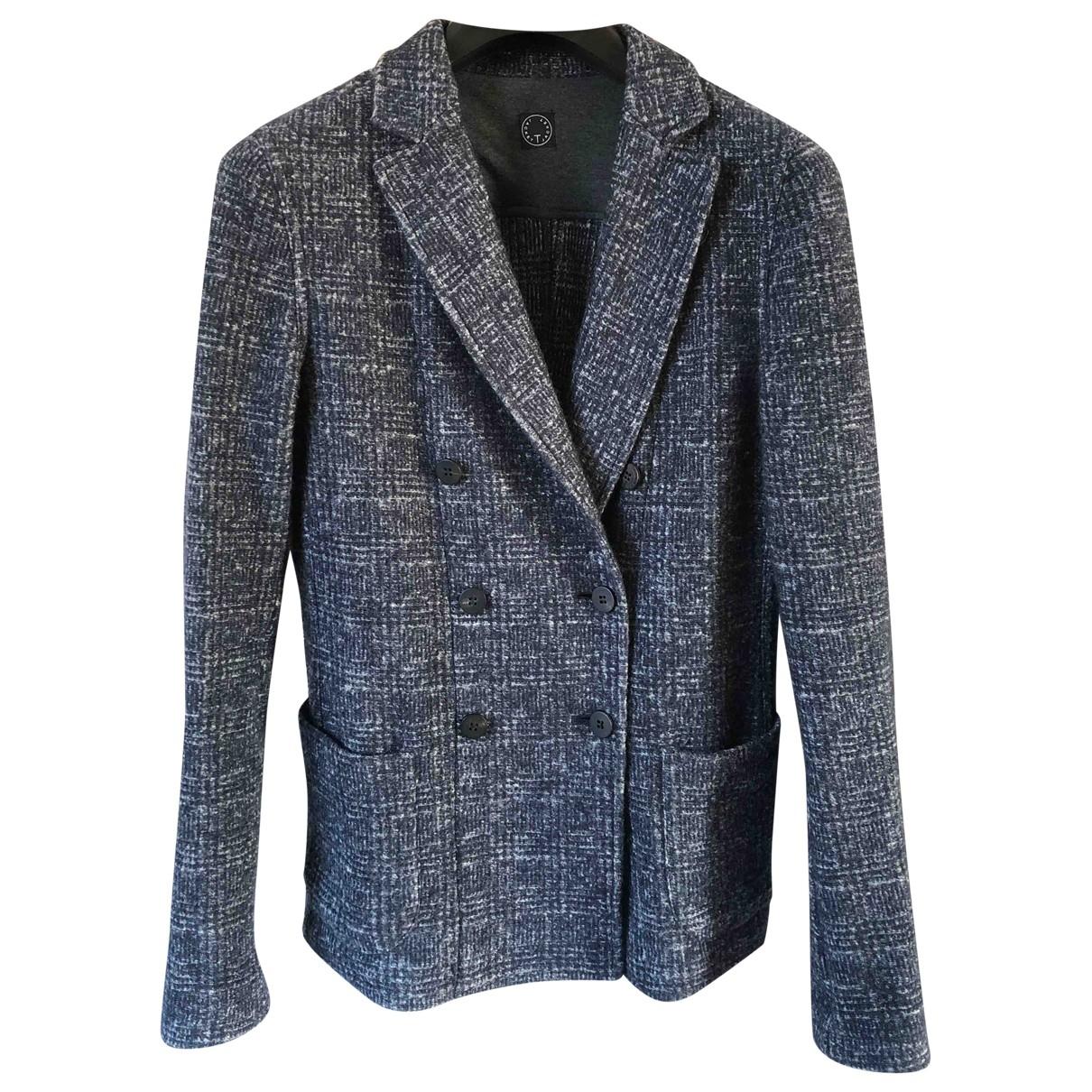 Tonello - Veste   pour femme en laine - bleu