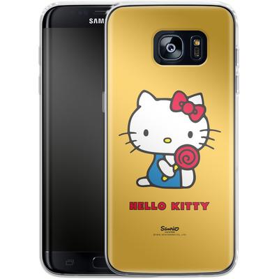 Samsung Galaxy S7 Edge Silikon Handyhuelle - Hello Kitty Lollipop von Hello Kitty