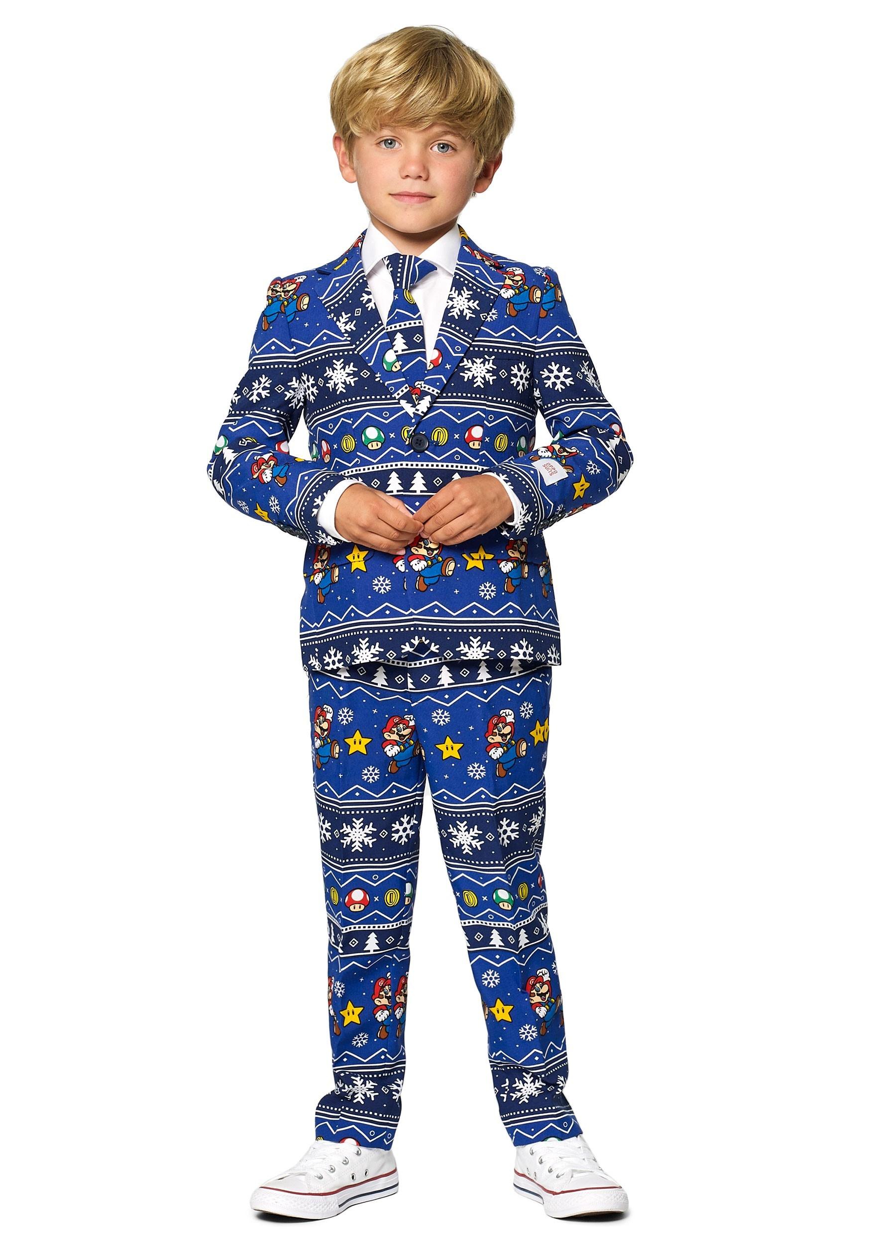 Opposuit Merry Mario Boys Suit