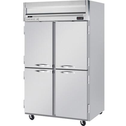 HRP2-1HS Horizon Series Two Sections Solid Half Door Reach-In Refrigerator  49 cu.ft. capacity  Stainless Steel Front and Sides  Aluminum