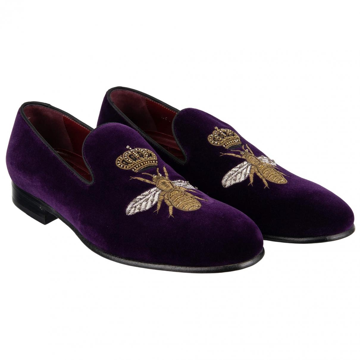 Dolce & Gabbana \N Mokassins in  Lila Samt