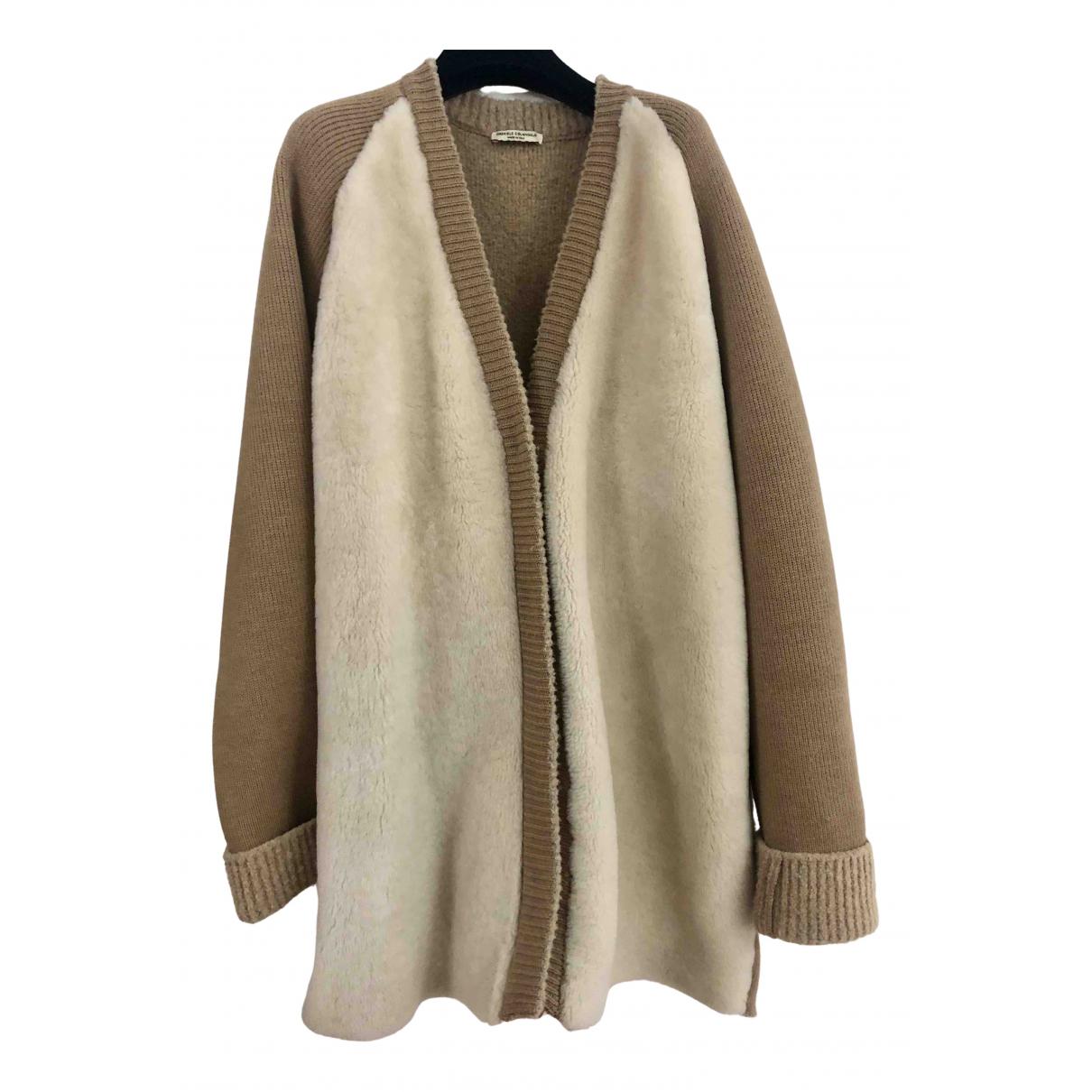 Gabriele Colangelo - Manteau   pour femme en mouton - beige