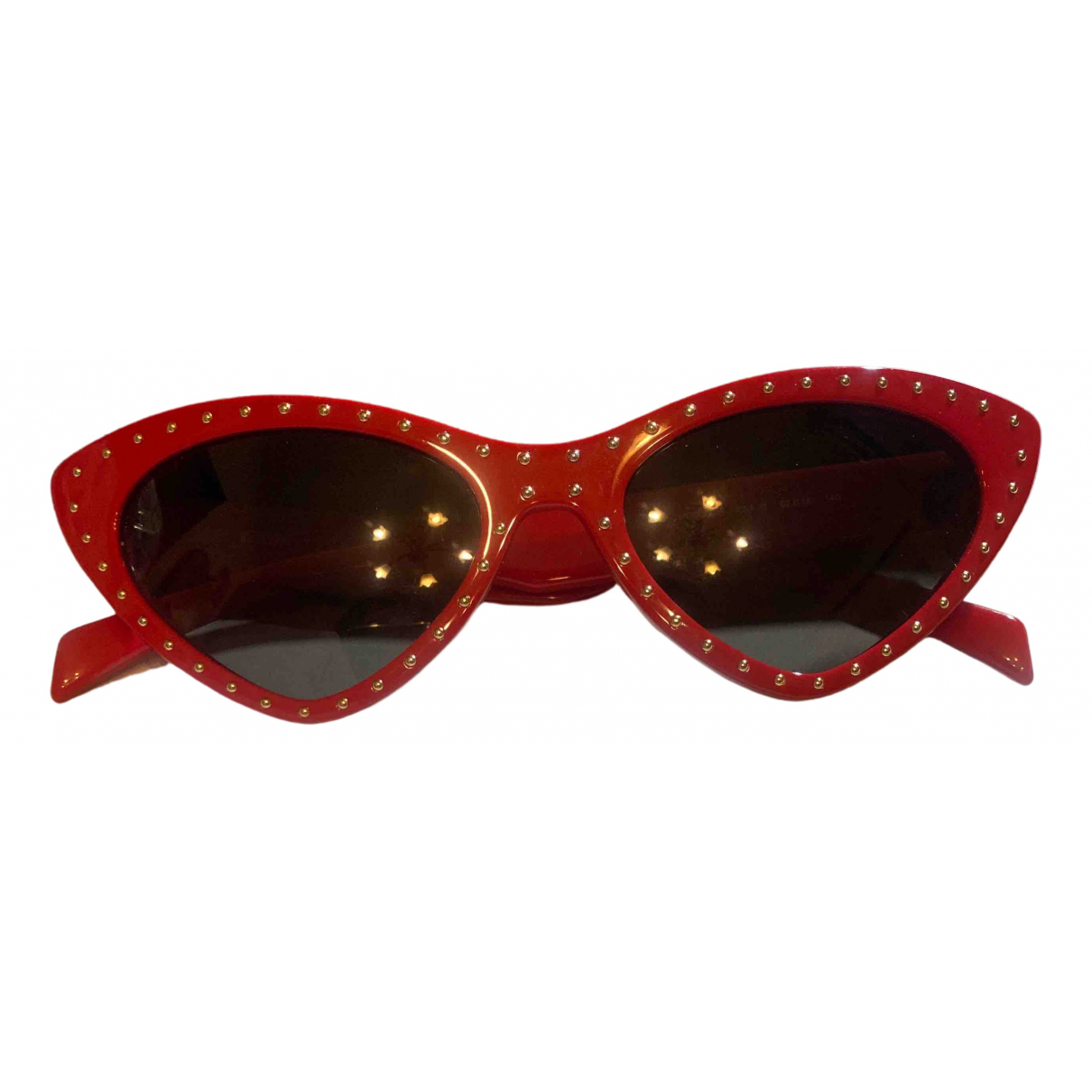Moschino - Lunettes   pour femme - rouge
