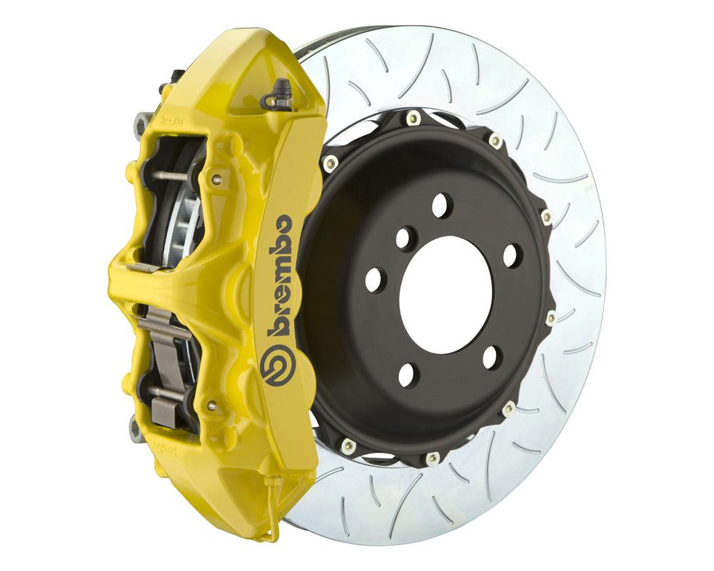 Brembo GT 380x32 2-Piece 6 Piston Yellow Slotted Type-3 Front Big Brake Kit
