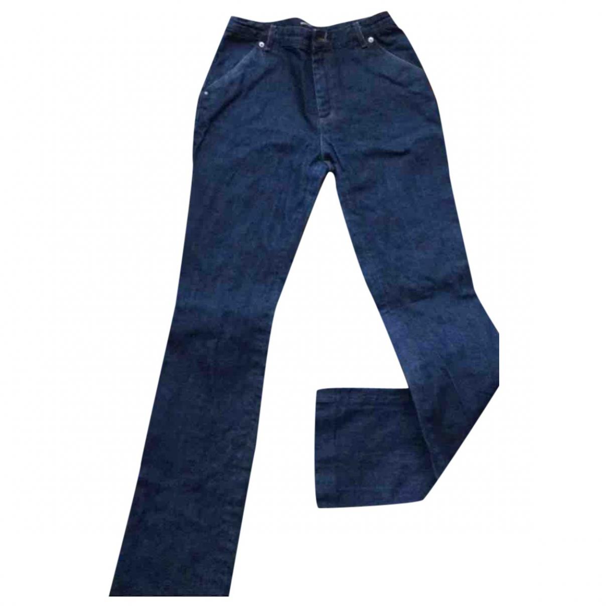 Vanessa Seward \N Blue Cotton Jeans for Women 38 FR