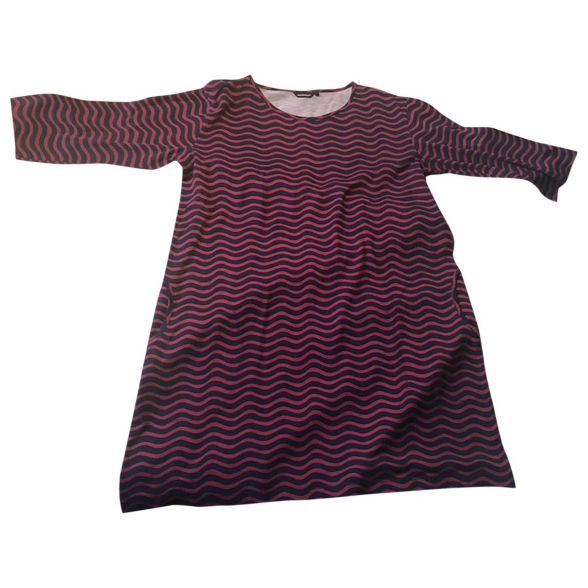 Marimekko \N Kleid in  Rot Baumwolle