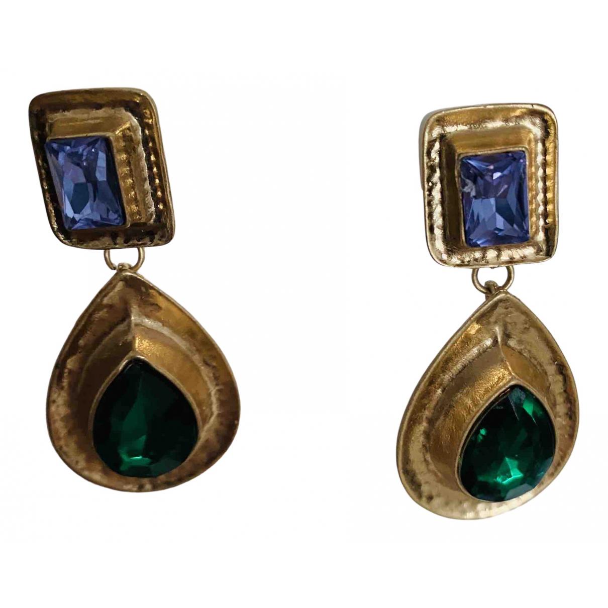 - Boucles doreilles Art Deco pour femme en metal - multicolore