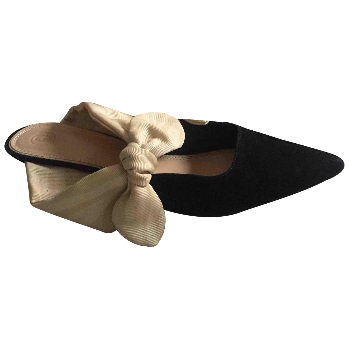 The Row - Sandales Coco pour femme en suede - noir