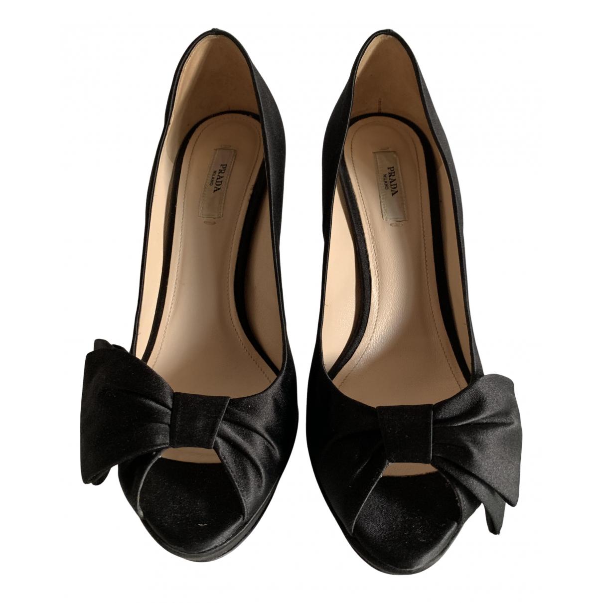 Prada N Black Cloth Sandals for Women 39 EU