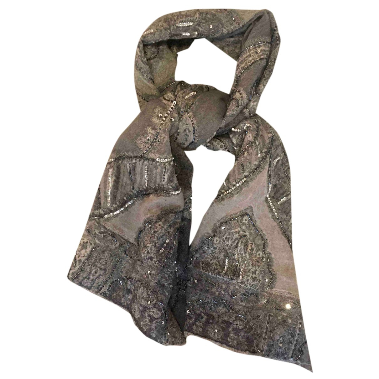 Gerard Darel - Foulard   pour femme en laine - gris
